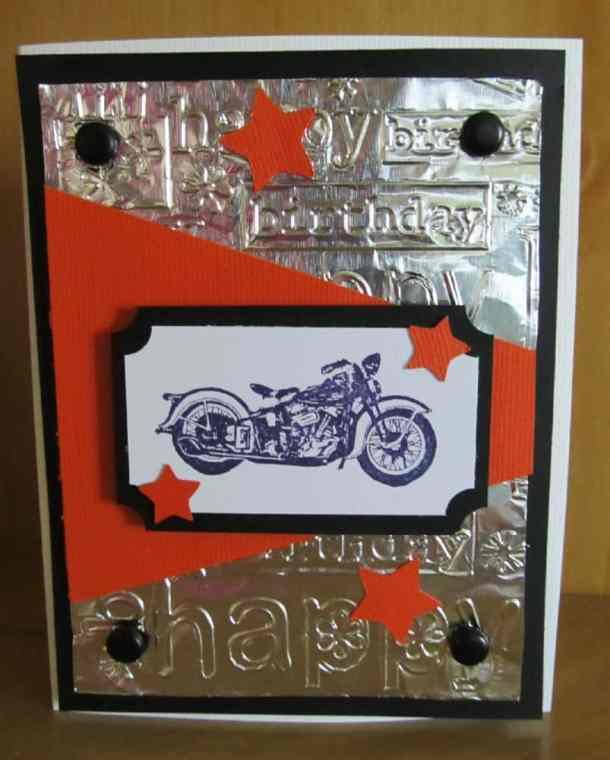 Handmade birthday cards ps i love you crafts handmade birthday motorcycle harley davidson card bookmarktalkfo Image collections