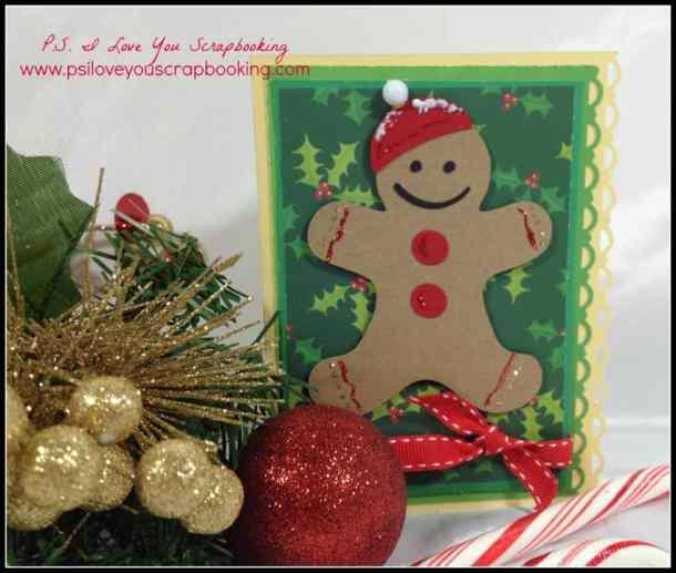 Gingerbread man card using the Cricut
