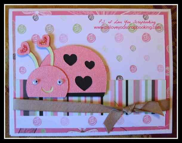 Create A Critter 2 Cricut Cartridge Ladybug Card - P.S. I Love You Scrapbooking - www.psiloveyouscrapbooking.com