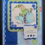 Cute Elf Christmas Card