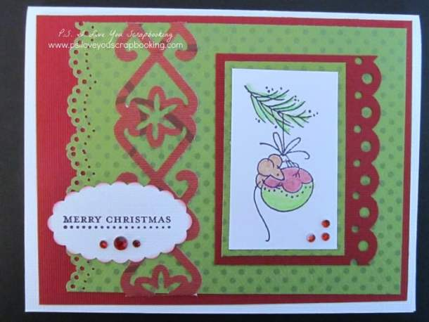 Mouse Handmade Christmas Card - Here are lots of ideas for Handmade Christmas Cards. They can be easy and simple or they can be complex. Rubber stamps, Cricut die cuts, the Spellbinder, and punches are all great tools when creating Christmas Greeting Cards.