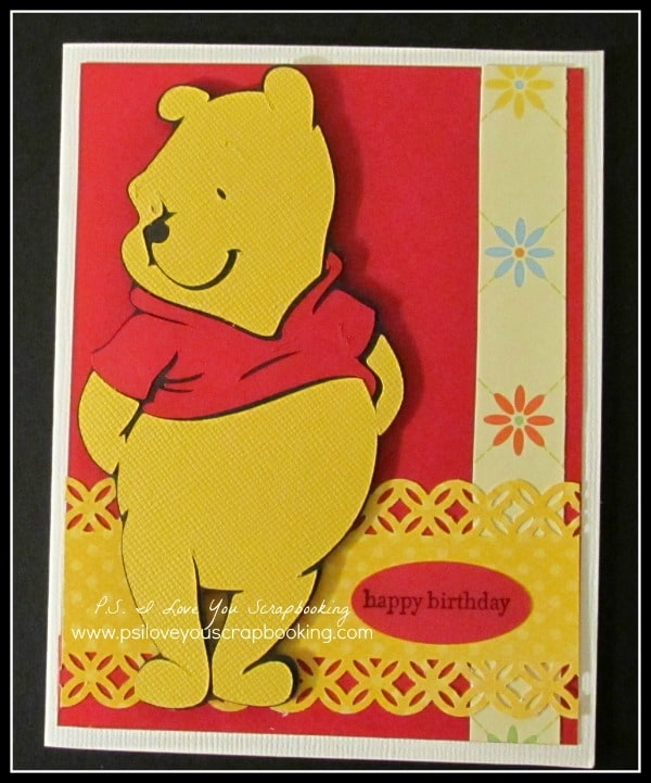 Winnie The Pooh Cricut Card Ps I Love You