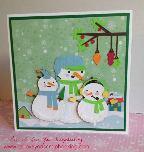Here are lots of ideas for Handmade Christmas Cards. They can be easy and simple or they can be complex. Rubber stamps, Cricut die cuts, the Spellbinder, and punches are all great tools when creating Christmas Greeting Cards. This adorable Cricut Snowman Card was made using the Cricut Explore. Find out how you can make this card too! If you don't have the Cricut Explore, you can use the Snow Folks Cricut Cartridge.