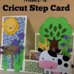 Cricut Stair Step Card Template and Instructions