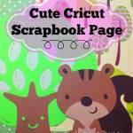 Cute Cricut Squirrel Scrapbook Page
