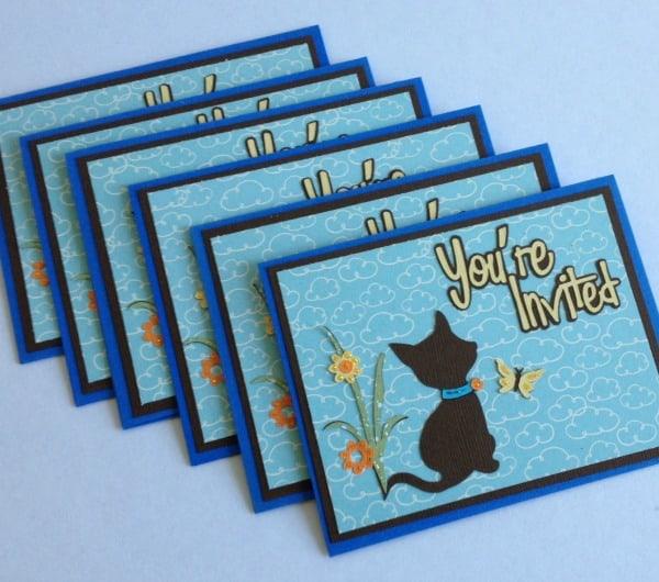 Cricut Kitten Birthday Party Invitations PS I Love You Crafts