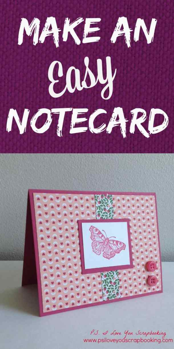 Butterfly Handmade Note Card for any occasion. This is an easy card to make and is great for the beginning card maker. It only takes a few supplies and simple techniques. Supplies are from Stampin' Up, but you can use any brand.