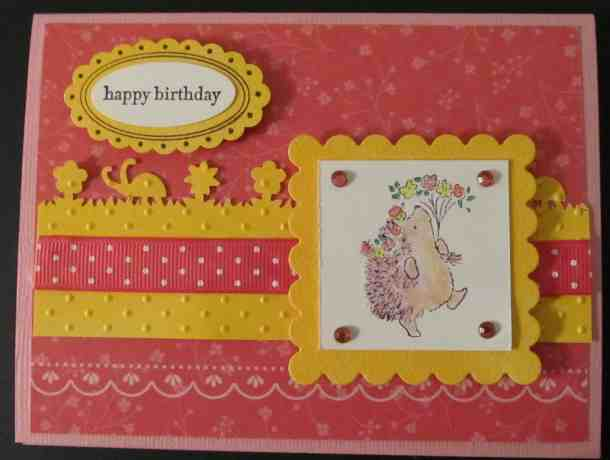 penny black rubber stamps hedgehog card