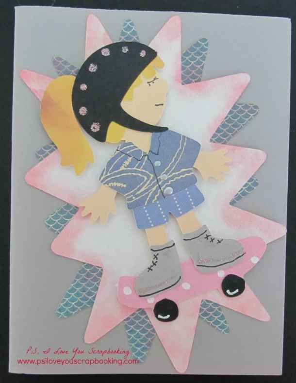 Everyday Paper Dolls Cricut Cartridge Review - Skater Girl