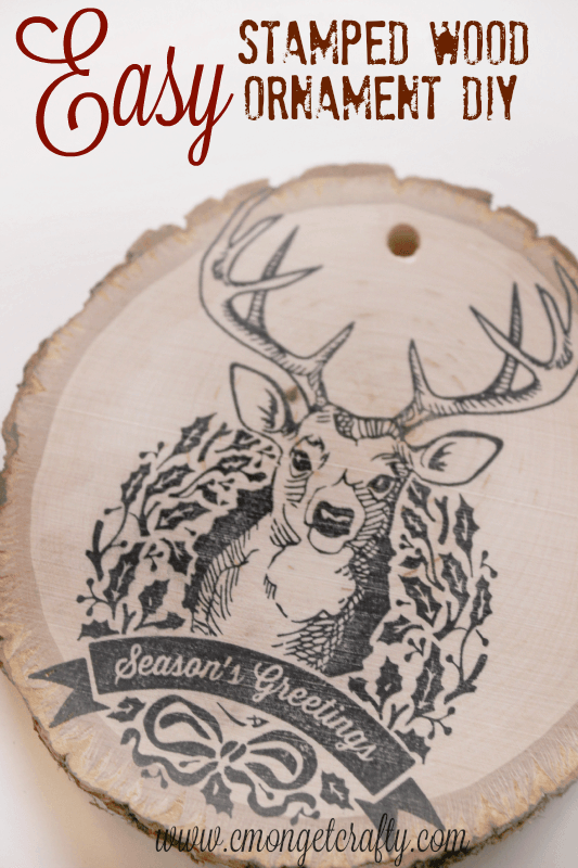 Stamped Wood Christmas Ornament