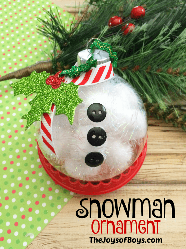 Snowman Christmas Ball - Handmade Christmas Ornaments are so much to create during the holiday season. Here are 65+ Homemade Christmas Ornaments for Kids and Adults. They are broken down into felt ornaments, Christmas balls, country and rustic Christmas ornaments, and Christmas ornaments that kids can make.