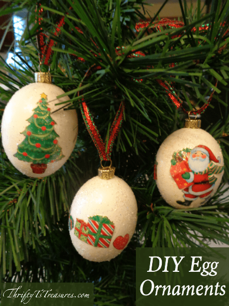 Egg Christmas Ornaments - Handmade Christmas Ornaments are so much to create during the holiday season. Here are 65+ Homemade Christmas Ornaments for Kids and Adults. They are broken down into felt ornaments, Christmas balls, country and rustic Christmas ornaments, and Christmas ornaments that kids can make.