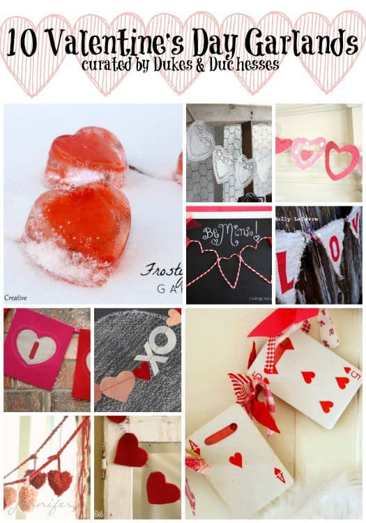 10 Valentine's Day Garlands - Valentine's Day Paper Crafts are fun and easy. If you're a card maker or scrapbooker, you probably have all the supplies you need to get started with these paper crafting projects. There are clever handmade cards with secret messages, Valentine's Day Games for the kids, and home decor. I need to try some of these!