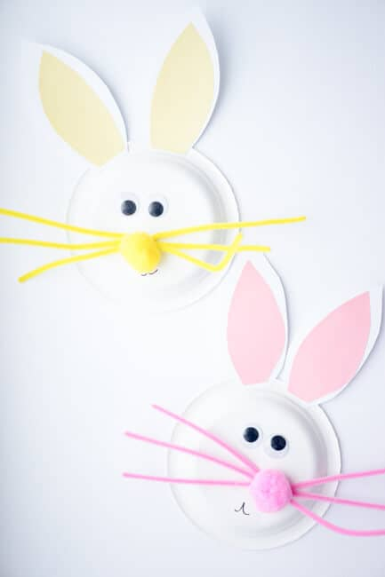 Paper Plate Easter Bunnies - Easter Paper Crafts are so fun and easy to make. Here's a variety of cards, printables, and home decor to keep you and the kids busy.