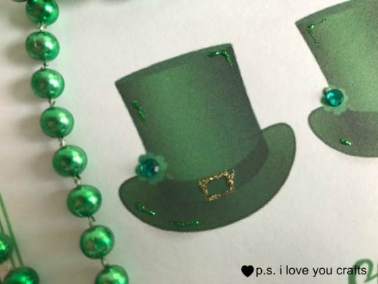 This Printable St. Patrick's Day Card is free for a limited time. I show you some ways that you can add detail, layers, and embellishments to the card.
