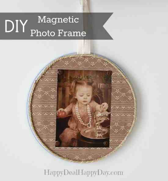 Magnetic Photo Frame - Here are more than 20 DIY Picture Frames for you to make. You can use plain wooden frames from the craft store or you can upcycle and old frame.