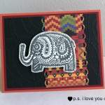 Bohemian Elephant Card With Simply Stamps
