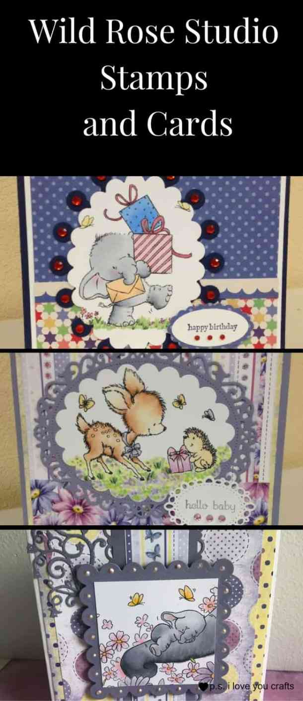 Wild Rose Studio has the most adorable stamps for making greeting cards. There's Bella the Elephant, Bluebell the Deer, and so many more cute critters. Wild Rose Studio stamps and cards made with them are beautiful. They also have sentiment stamps, steel dies, papers, and printed panels.