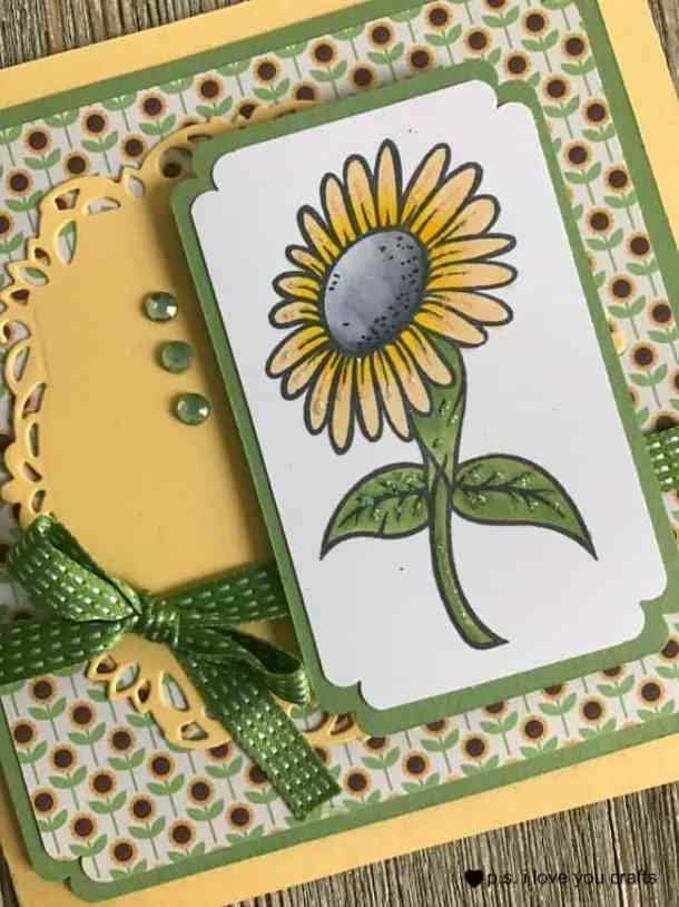 Make a Sunflower Card using a rubberstamp from Simply Stamps. It's an easy card that will only need a few supplies.