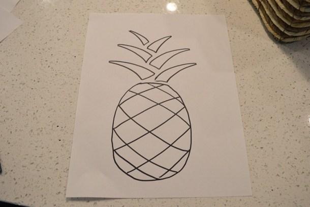 DIY pineapple watercolor art