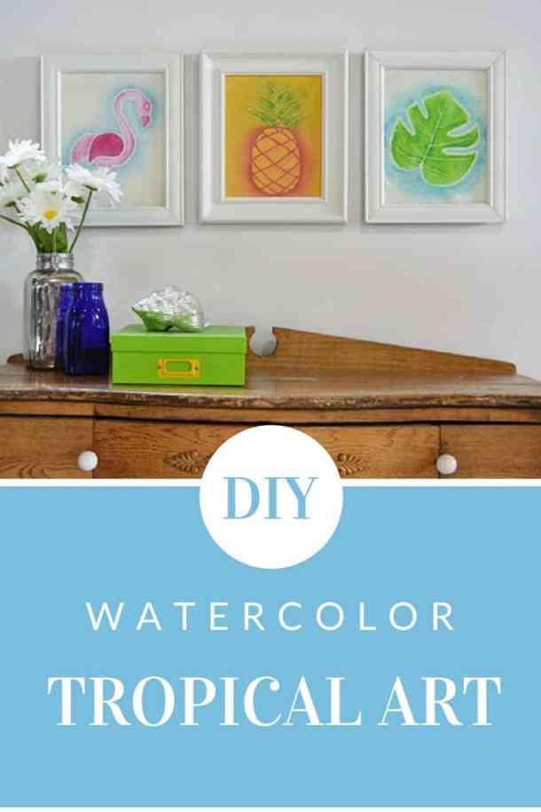How to make watercolor tropical art on fabric using Dye-na-flow fabric paint from Jacquard.