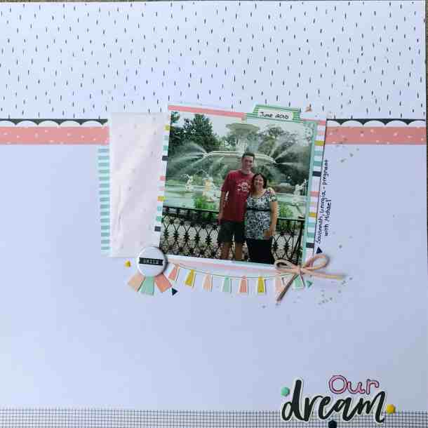Pregnancy layout using the Felicity Jane Caroline Kit