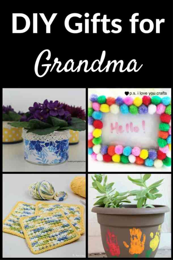 Here is a collection of gifts to make for Grandma. There are some for kids and some for adults. No matter what you choose, Grandma will be happy that you gave her something homemade.