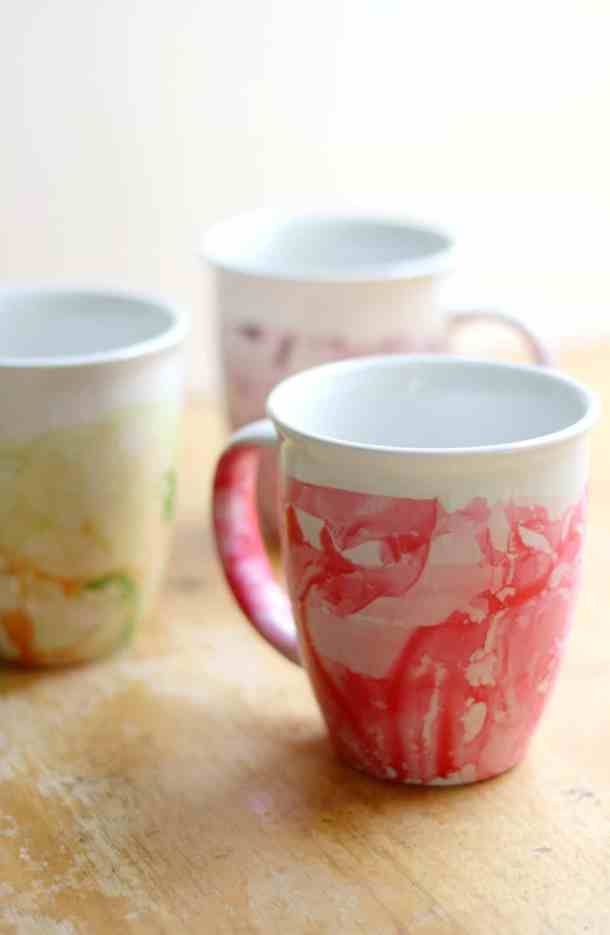 If Grandma Enjoys Coffee Or Tea Make Her A Set Of DIY Nail Polish Marble Mugs Thrifty Jinxy And Strength Sunshine Will Show You How To Them