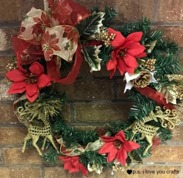 Dollar Tree Christmas Wreath P S I Love You Crafts