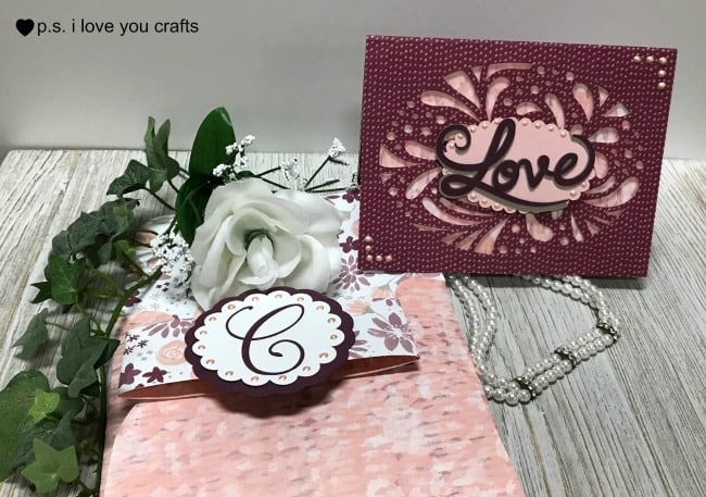 Cricut Wedding Invitation or Card PS I Love You Crafts