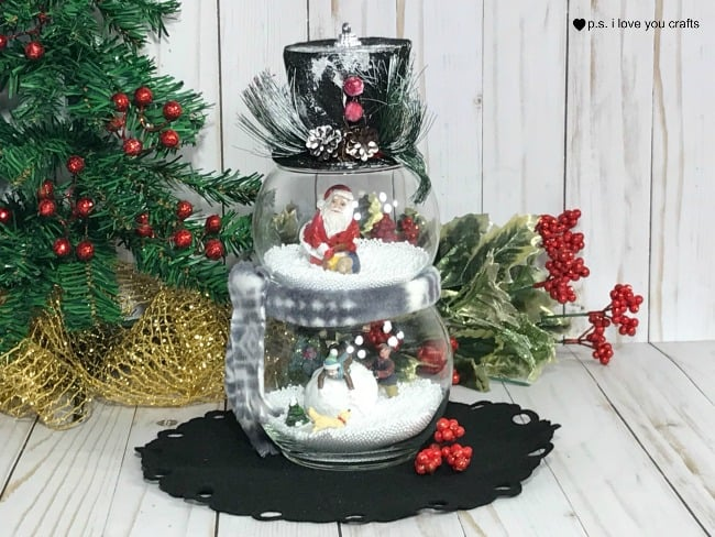Dollar Tree Snow Globe Decoration PS I Love You Crafts