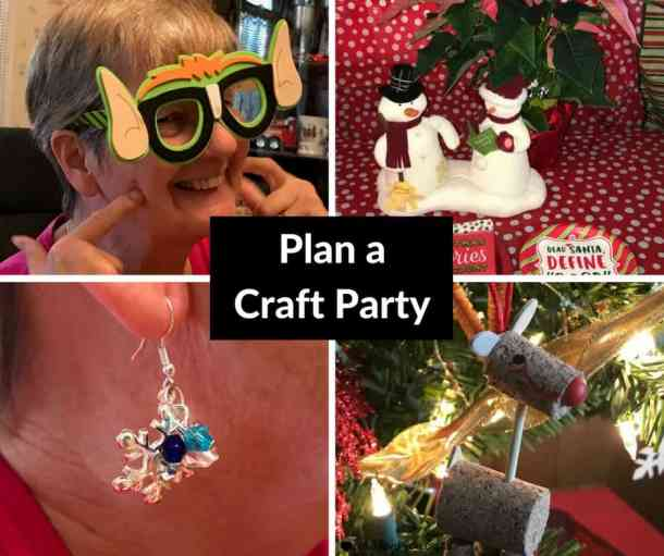 Plan a Crafting Party with Oriental Trading. I purchased all of the craft supplies from Oriental Trading, and we made 3 craft projects. They have a huge selection to choose from and they have paper party goods too. #orientaltrading #craftparty #christmascrafts #kidscrafts
