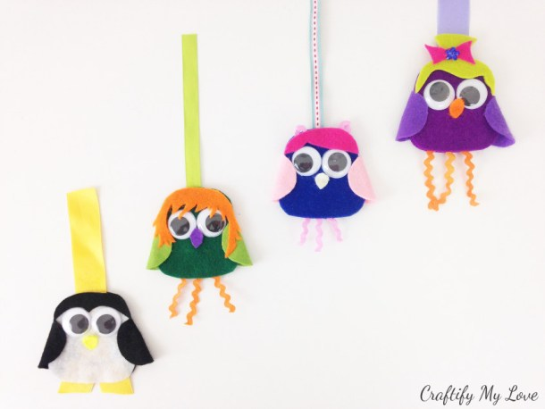 penguin and owl crafts for kids and adults. Learn how to make a 3d bookmark