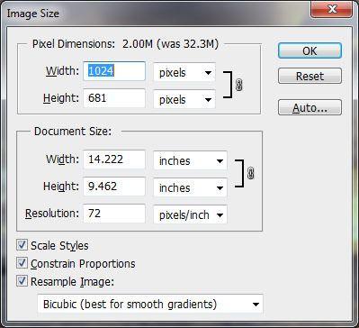 Как правильно изменить размер изображения в Photoshop