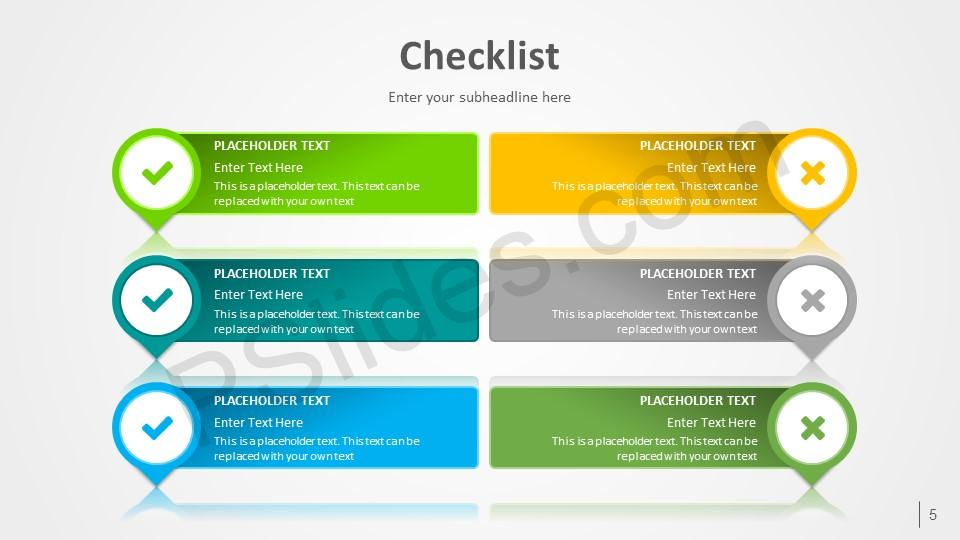 With the help of checklist, you'll be able to stay focused and always be aware of which en. Free Checklist Powerpoint Template