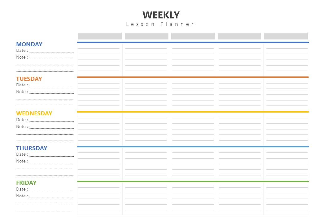 A business plan is essential to a small business's strategy. Weekly Lesson Plan Template Pslides