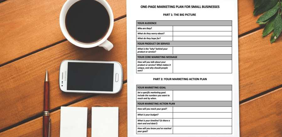 Free Download  A One Page Marketing Plan Template You ll Actually Use   Free Download  A One Page Marketing Plan Template You ll Actually Use