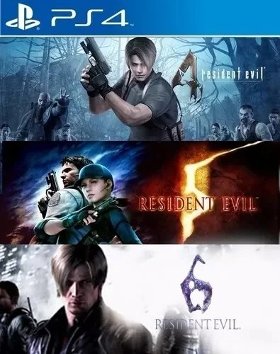 Resident Evil Combo 4+5+6 PS4