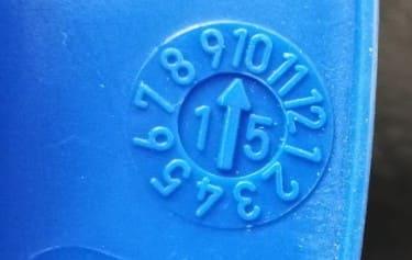 Каска - маркиране на дата на производство