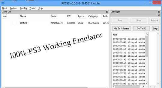 1.9.4 BIOS PS3 EMULATOR TÉLÉCHARGER