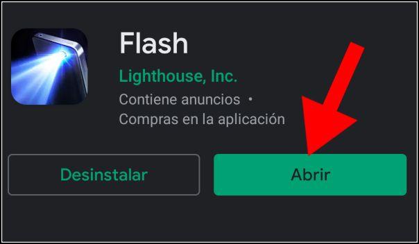 Abrir app linterna gratis