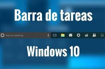 barra de tareas windows 10