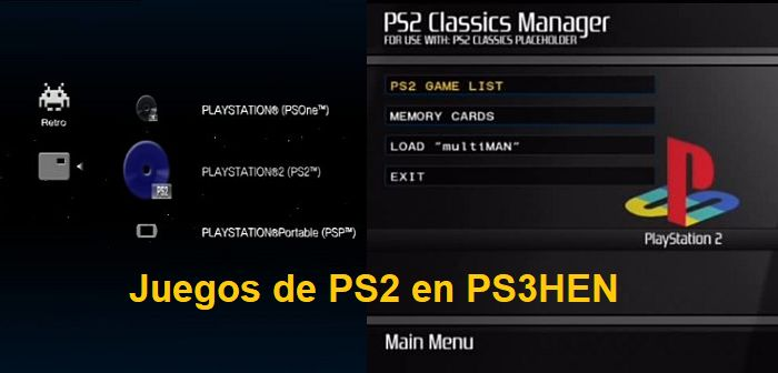 juegos de ps2 en ps3 con ps3hen