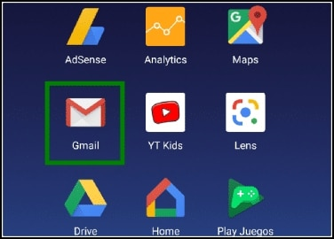 menú Android app Gmail