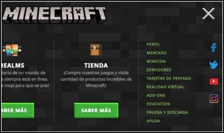 perfil de Minecraft