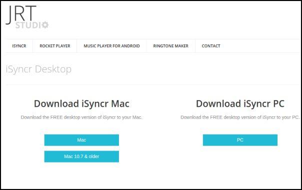 Descargar iSyncr para el ordenador