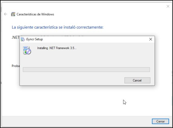 Instalación de iSyncr en Windows