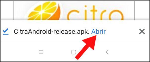 APK de Citra Android descargada