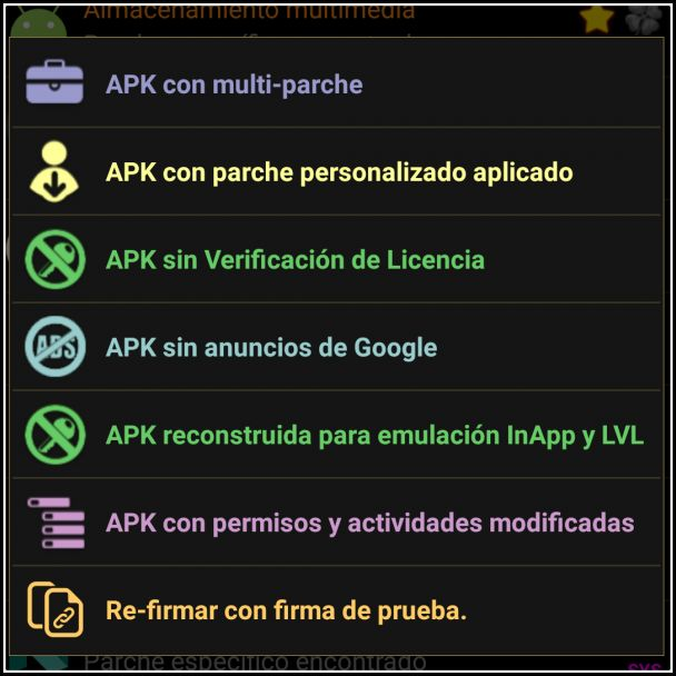 APK modificada