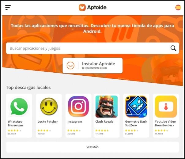 aplicaciones Aptoide